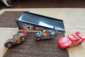 Disney Cars 1:43 scale with ramp.