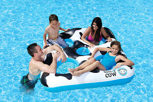 NEW Hole-y Cow Inflatable Floating Island Poolmaster 83664