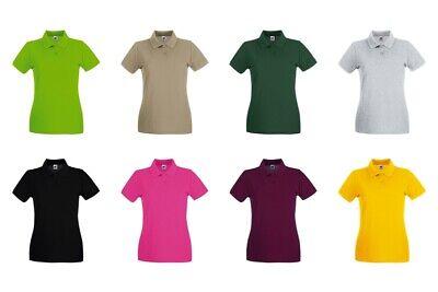Fruit of the loom Damen Poloshirt Premium Lady Fit Frauen Polo Shirt 63-030 NEU (Frauen Polo-shirts)