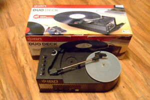 Ion Duo Deck Turntable With Cassette Deck