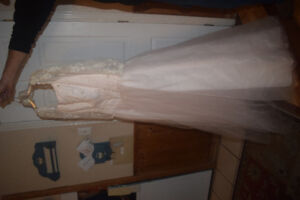blush pink wedding dress $60