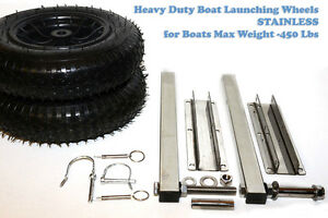 Boat Launching wheels Heavy Duty - Stainless MAX LOAD 450 LBs