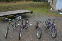 4 bycicles for sale $150 for the whole lot