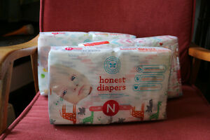 120 New Born Compostable Diapers - Honest Company