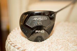 Ping Anser Driver - upgraded Mamiya Elements Chrome shaft