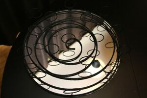 Circle mirror candle holder