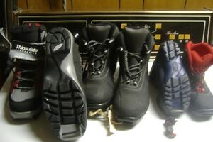 4 PAIRS OF X-COUNTRY SKI BOOTS