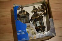 2 classic style, copper finish outdoor lights