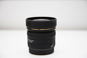 SIGMA 8MM F3.5 EX DG CIRCULAR FISHEYE FOR CANON - $750