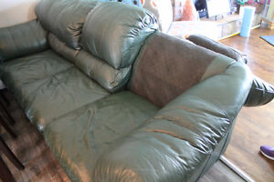 Leather Couch 88 inches long(bought at Leon's).