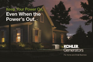 Authorized KOHLER Generator Dealer, Sales, Installs