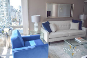 Furnished One Bedroom + Den  Apartment Downtown (West Georgia)