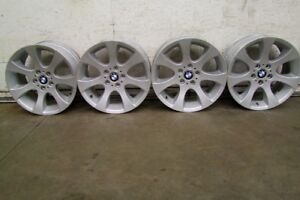 """4-18"""" FACTORY BMW 3 SERIES ALLOY RIMS, CENTRES INCLUDED"""