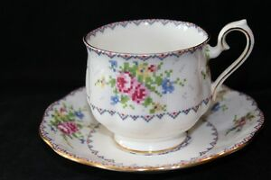 PETIT POINT TEA CUP - ROYAL ALBERT