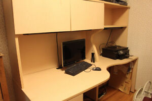 Office Desk with Drawers and Cupboards