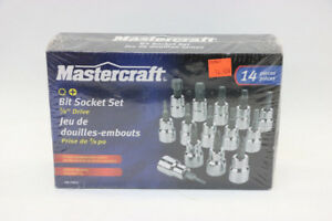 Brand New Mastercraft 14 Piece Bit Socket Set (#15887)