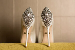 Wedding shoes - Size 8 BADGLEY MISCHKA Kiara Satin Platform Pump Cambridge Kitchener Area image 1