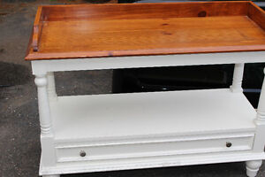 long table with drawer