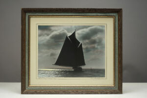 Vintage Macaskill Framed Photograph & Bluenose, Wing &Wing 1931