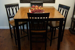 Pub Style  Table with 4 high back chairs