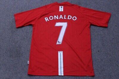 MANCHESTER UNITED Prima 2007 2008 #7 RONALDO Football Soccer Shirt Jersey MEDIUM image