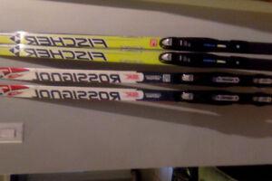 skis de fond classique et skate Junior  batons