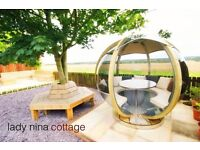 Holiday cottage with hot tub in Fife