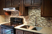 installation armoires cuisine, OG, salle de bain, sous-sol