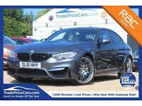 2016 BMW M3 3.0 M3 COMPETITION PACKAGE 4D 444 BHP