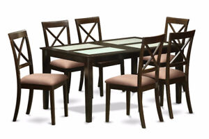 Dining Table Set with four chairs - East West Furniture CAB7G-CA