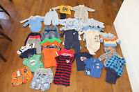 Boys 3-6 months – Complete Lot only $35 (less than $1 per item)
