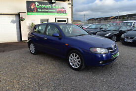 Nissan Almera 1.8 SVE 5 DOOR BLUE 2003MY