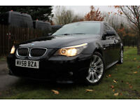BMW 525 3.0TD auto 2008 M Sport LCI , FULL BMW HISTORY , CARBON BLACK , 2 OWNERS