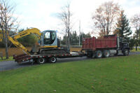 4-8 tons excavation, dump truck with operator
