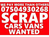 07504930268 CAR VAN BIKE SELL MY BUY YOUR SCRAP FOR CASH A