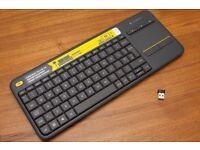 Logitech K400 plus wireless keyboard with touchpad