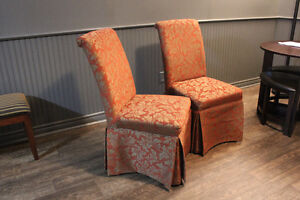 Upholstered High Back Dining Chairs