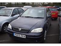 2003 VAUXHALL ASTRA CLUB 1.6 AUTOMATIC PX TRADE CLEARANCE HATCHBACK PETROL