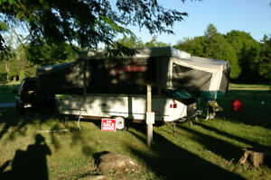 Pop up tent trailer and 4x4 Jeep combo $5000