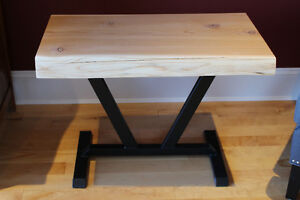 Western Red Cedar Live Edge End Table