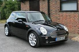 2004 MINI COOPER WITH CHILI PACK AND AIR CONDITIONING IN BLACK 63000 MILES