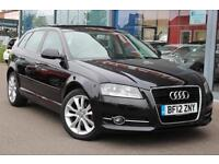 2012 AUDI A3 1.6 TDI Sport S Tronic Auto PAN ROOF, FULL LEATHER and GBP30 TAX