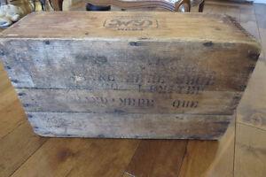 caisse en bois pour bricolage antique $5.00