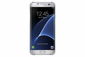 Samsung Galaxy S7 edge Case Clear Protective Cover - Silver