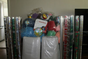 Huge Gift Basket Supplies New Cello Rolls Sizzle Glue Dots etc