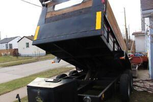 80$ a day  DUMP TRAILER FOR RENT+Flat deck trailer service