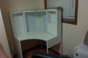 White IKEA computer desk for sale