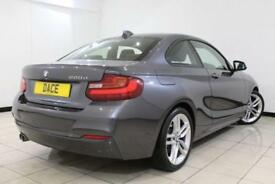 2015 15 BMW 2 SERIES 2.0 220D M SPORT 2DR AUTOMATIC 188 BHP 1 OWNER FULL SERVICE