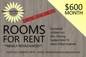 STUDENTS: Rooms for Rent (Available September 1st)