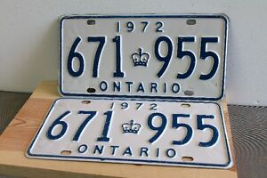 1972 LICENCE PLATE'S